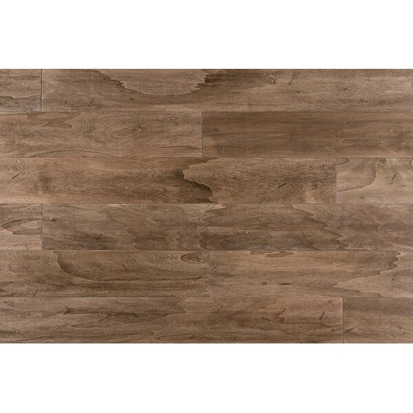 Geneva 5 Engineered Hardwood Flooring in Chocolate Malt by Ivy Bronx