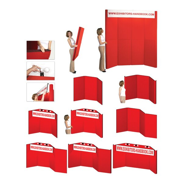 Hero H06 Folding Display Panel with Backlit Header by Exhibitor's Hand Book