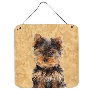 Yorkie Puppy / Yorkshire Terrier by Denny Knight Painting Print Plaque by Caroline's Treasures