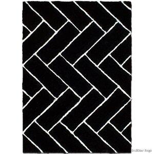 Hand-Tufted Black Area Rug