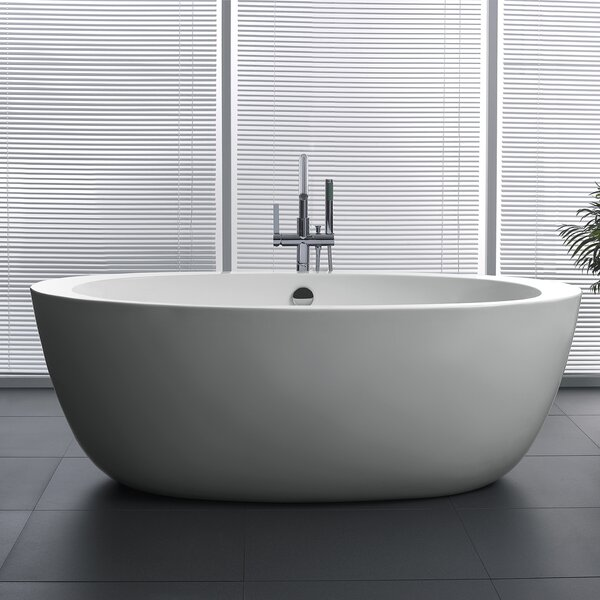 Yield Series 67'' x 35.5'' Freestanding Soaking Bathtub by ANZZI