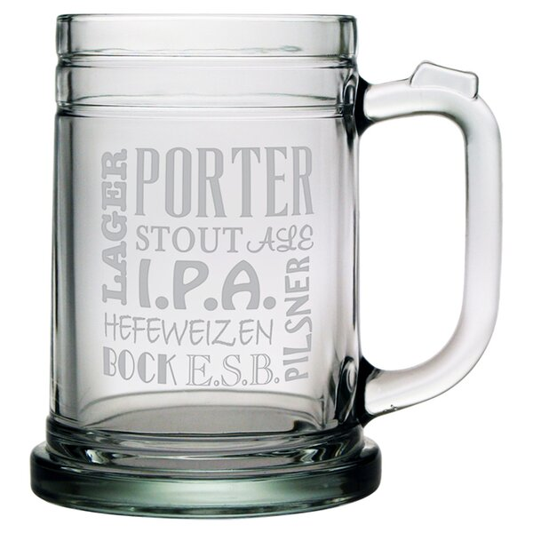 Beer Anthology Tankard Mug by Susquehanna Glass