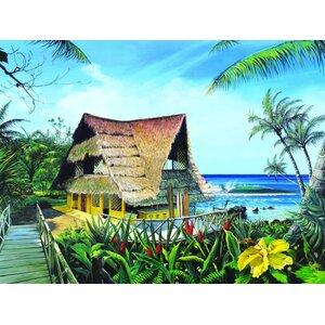 'Hawaiian Hideaway' by Scott Westmoreland Graphic Art on Canvas by Printfinders