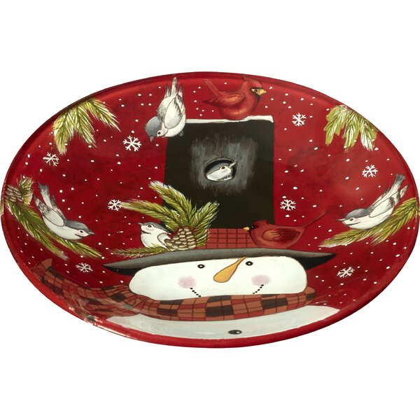 Snowman Hand Painted 6.25 Butter Plate by Precious