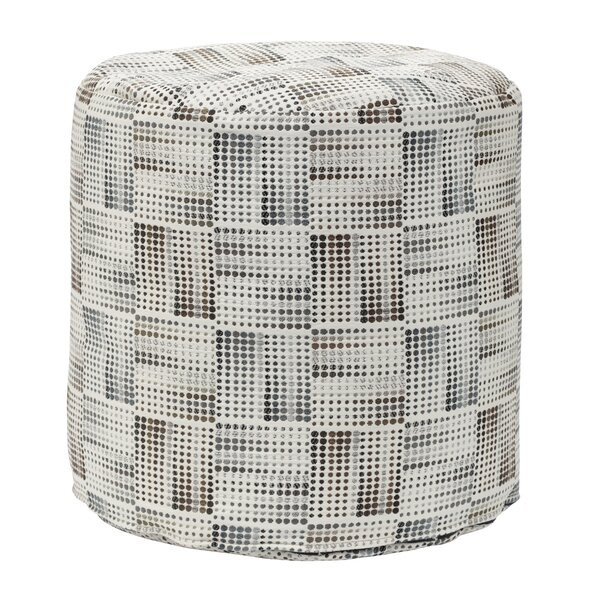 Matrix Charcoal Tapestry Pouf by American Furniture Classics