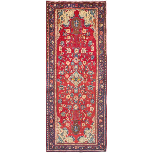 One-of-a-Kind Mahal Hand-Knotted Runner 4'5