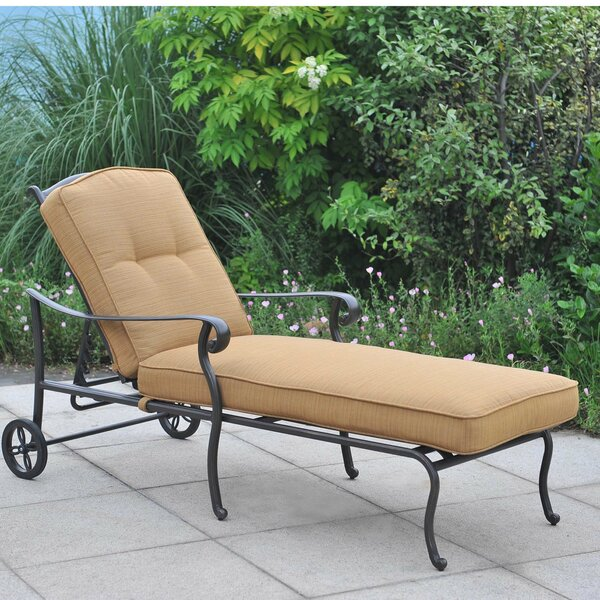 Largemont Reclining Chaise Lounge with Cushion by Sunjoy