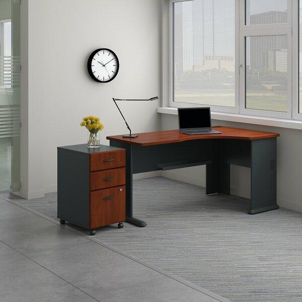 Series A Right Corner 2 Piece L-Shape Desk Office Suite by Bush Business Furniture