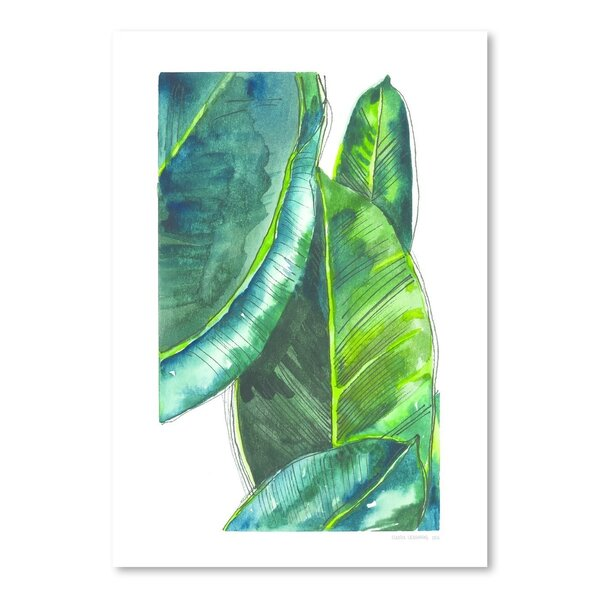 Banana Leaves Poster Gallery Painting Print by Bay Isle Home