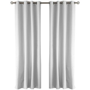 cabo solid blackout grommet curtain panels set of 2