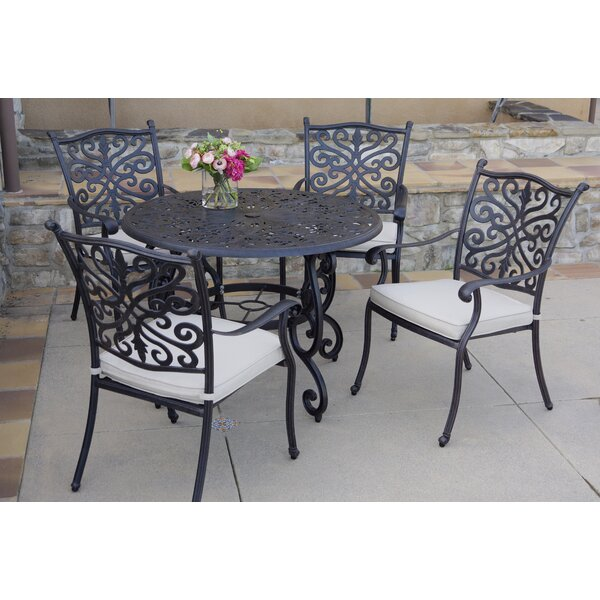 Burkey 5 Piece Dining Set with Cushions by Canora Grey
