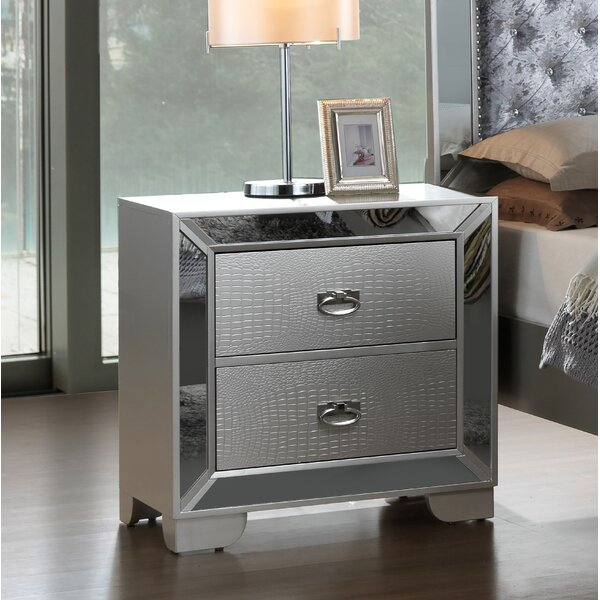 Jemma 2 Drawer Nightstand by Everly Quinn