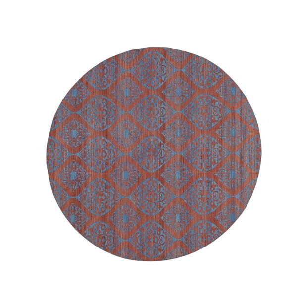 One-of-a-Kind Reversible Flat Weave Durie Kilim Hand-Knotted Red/Teal Area Rug by Bloomsbury Market