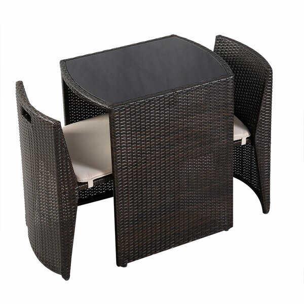 Eliakim 3 Piece Rattan Seating Group with Cushions by Latitude Run