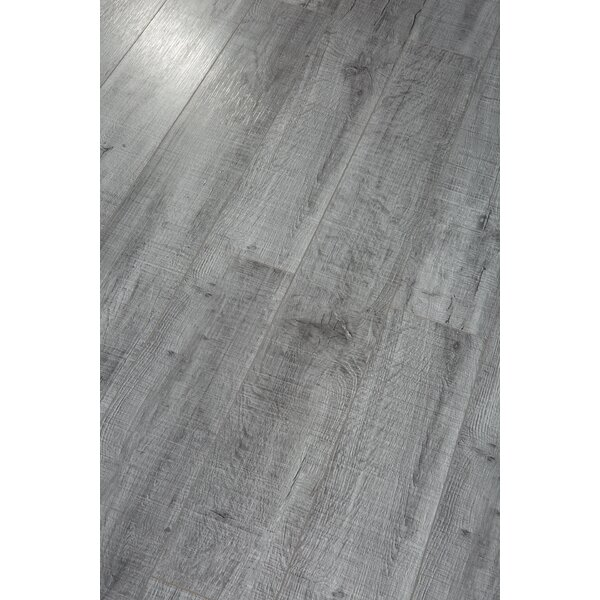 Pearl Leather 8 x 49 x 12mm Laminate Flooring in Gray (Set of 4) by Christina & Son