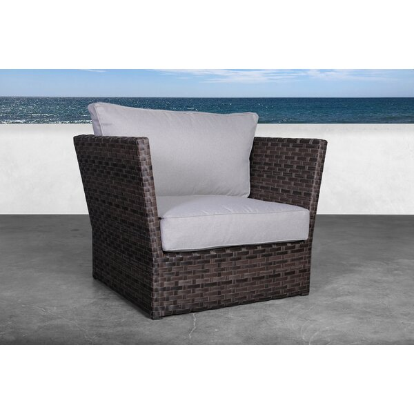 Morwenna Rattan Armchair with Cushions by Highland Dunes