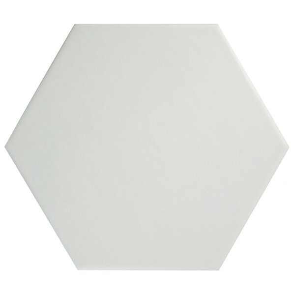 Hexitile 7 x 8 Porcelain Mosaic Tile in Matte White by EliteTile