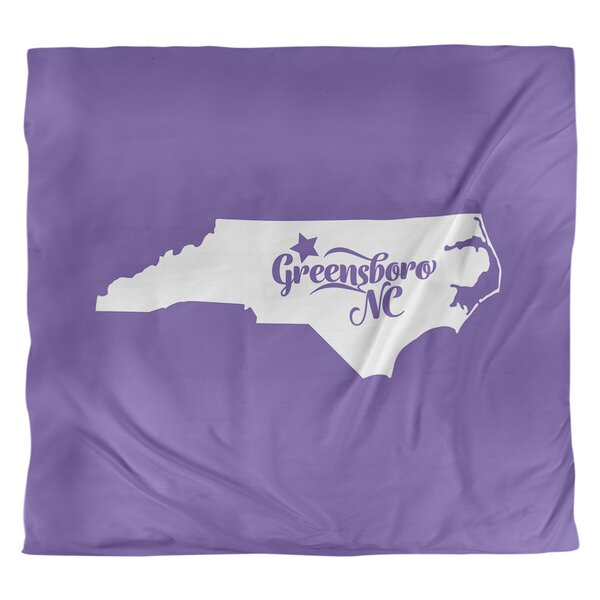 Greensboro North Carolina Duvet Cover