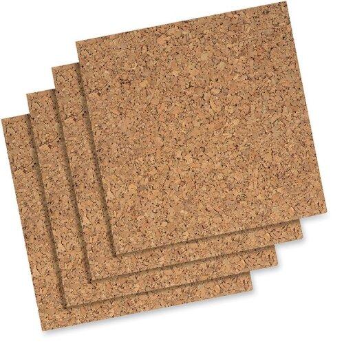 Cork Panels, Self-heal, 12x12, 4 per Pack, Natural by Quartet®