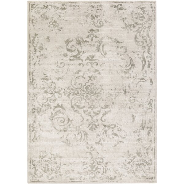 Cary White/Gray Area Rug by Charlton Home