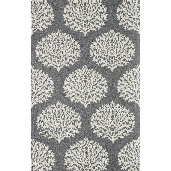 Cline Gray Indoor/Outdoor Area Rug by Highland Dunes