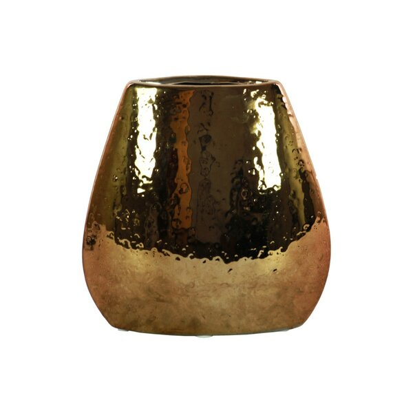 Pinar Elliptical Hammered Pattern Bellied Table Vase by World Menagerie
