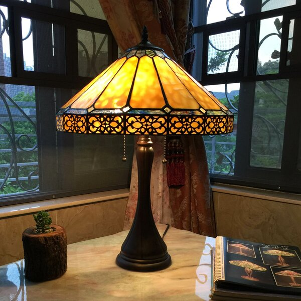 Matteo Yellow 23 Buffet Lamp by Astoria Grand
