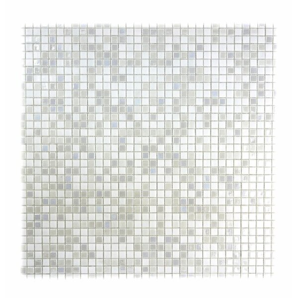 Galaxy Straight 0.31 x 0.31 Glass Mosaic Tile in White by Abolos