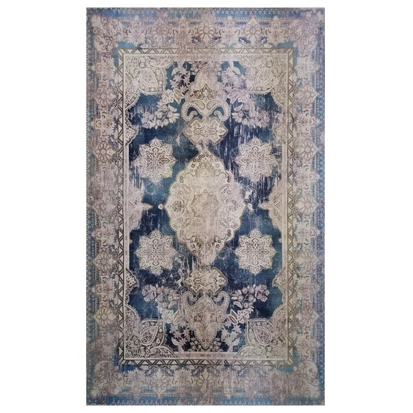 Kimes Blue/Beige Area Rug by Alcott Hill