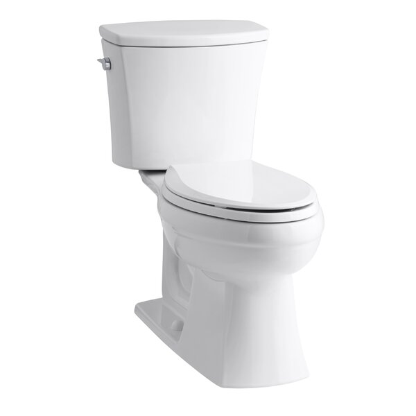 Kelston Comfort Height Two-Piece Elongated 1.6 GPF Toilet with Aquapiston Flush Technology and Left-Hand Trip Lever by Kohler