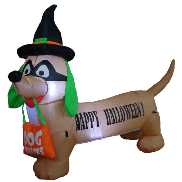 Halloween Inflatable Dog Indoor/Outdoor Decoration by The Holiday Aisle