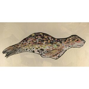 'Leopard Seal' by Eli Halpin Print of Painting on Canvas by GreenBox Art