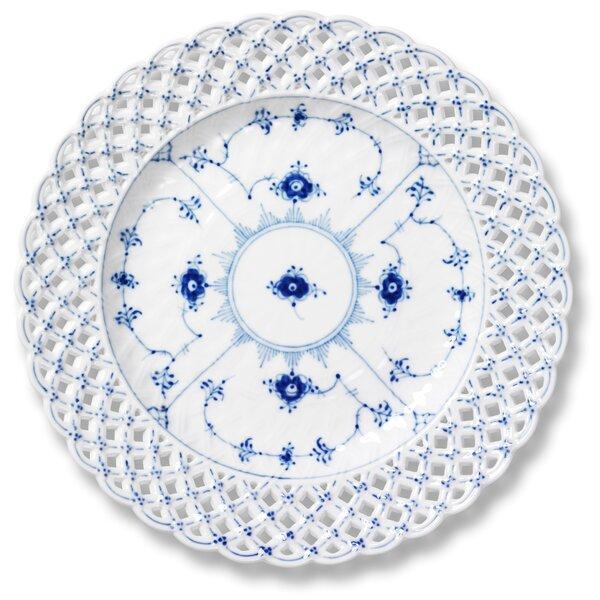 Blue Fluted 9.75 Dinner Plate