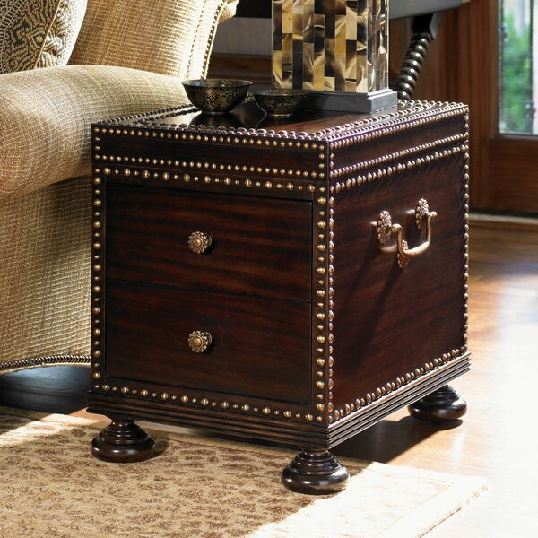 Royal Kahala Sunset Cay End Table with Storage by Tommy Bahama Home