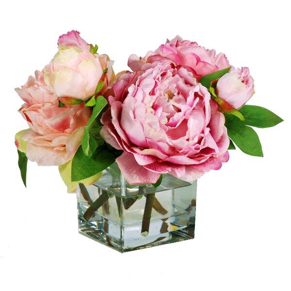 Peonie Floral Arrangement in Decorative Vase by Jane Seymour Botanicals