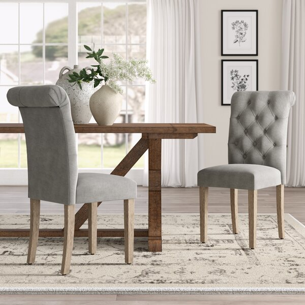 Bushey Roll Top Upholstered Dining Chair (Set Of 2) By Lark Manor