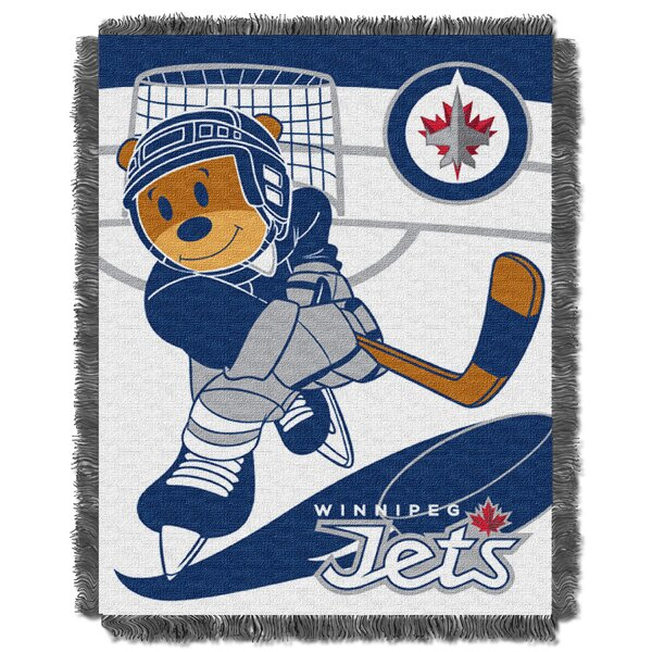 NHL Jets Baby Woven Throw Blanket by Northwest Co.