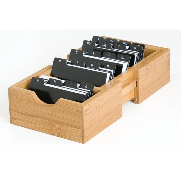 Bamboo Expandable Business Card Holder by Lipper International