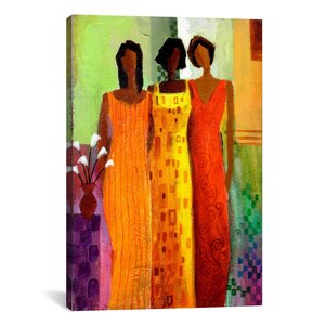 'Girlfriends' by Keith Mallett Painting Print on Canvas by iCanvas