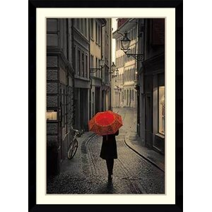 'Red Rain' by Stefano Corso Framed Photographic Print by Amanti Art