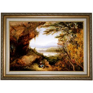 'Scene on the Hudson (Rip Van Winkle) 1848' Framed Print on Canvas by Historic Art Gallery