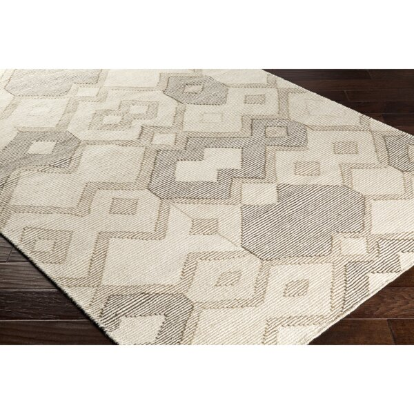 Holden Hand-Woven Neutral/Brown Area Rug by Wrought Studio