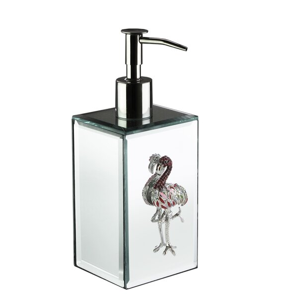 Chavis Flamingo Brooch Mirror Lotion Dispenser by House of Hampton
