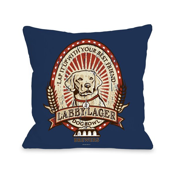 Doggy Décor Labby Lager Throw Pillow by One Bella Casa
