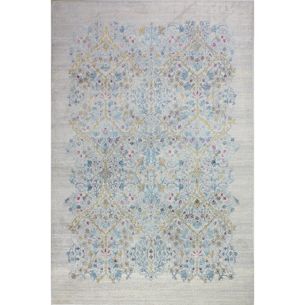 Fidela Floral Ivory Area Rug by Bungalow Rose