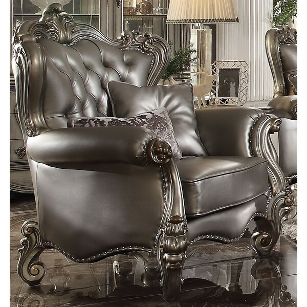Mendez Club Chair with 2 Pillows by Astoria Grand