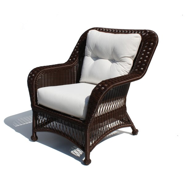 Princeton Outdoor Wicker Deep Seating Chair with Cushions by ElanaMar Designs