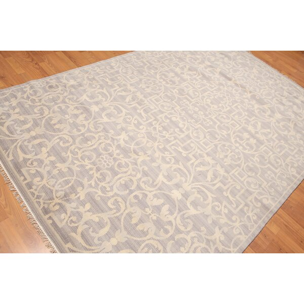 One-of-a-Kind Hassler Hand-Knotted Wool Gray Area Rug by Canora Grey