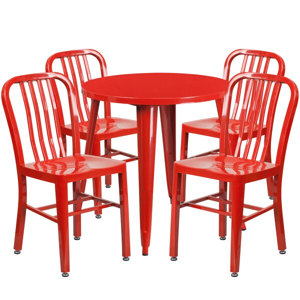 Claxton Metal Indoor/Outdoor 5 Piece Dining Set by Latitude Run