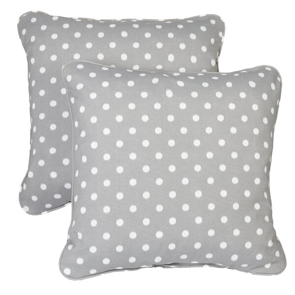 Flange Square Indoor/Outdoor Throw Pillow (Set of 2) by Darby Home Co